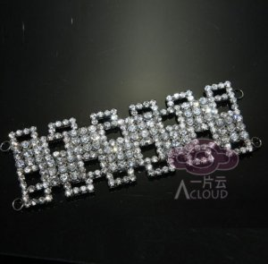 DIAMANTE RHINESTONE CRYSTAL BRIDAL COSTUME FRINGE NAPKIN RING DRESS APPLIQUE