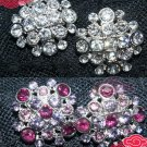 BRIDAL WEDDING RHINESTONE CRYSTAL DRESS SASH CRAFT PURPLE CLEAR BUTTONS