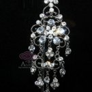 DANGLE RHINESTONE CRYSTAL VINTAGE STYLE PENDANT CHANDELIER WEDDING BROOCH PIN