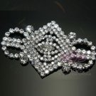 WEDDING BRIDAL ORNAMENT RHINESTONE CRYSTAL DRESS BUCKLE DECORATION BROOCH PIN