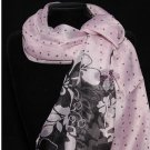 FASHION FLORAL DOT  WOMEN POLYESTER SILK WRAP SHAWL SCARF SCARVES