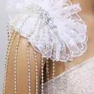 BRIDAL WEDDING DRESS SHOULDER RHINESTONE CRYSTAL CHAIN PEARL NECKLACE EPAILETTES