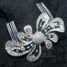 BRIDAL WEDDING HEADDRESS HEADPIECE BOW RHINESTONE CRYSTAL TIARA HAIR COMB