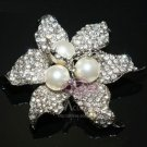 LOT OF 6 FAUX PEARL WEDDING CAKE RHINESTONES CRYSTAL BROOCH PIN