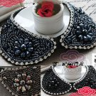 STEAMPUNK STYLE BEAD VINTAGE RHINESTONE CRYSTAL CHOKER NECK COLLAR NECKLACE