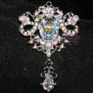 VINTAGE STYLE RHINESTONE CRYSTAL DANGLE CHARM PENDANT BUTTON