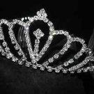 BRIDAL WEDDING RHINESTONE CRYSTAL CROWN HAIR TIARA FOREHEAD ACCESSORY COMB