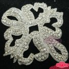 "6"" BEADED GLASS CRYSTAL RHINESTONE WEDDING HAIR VEIL PATCH HEADBAND APPLIQUE"