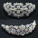 BRIDAL WEDDING CLEAR RAINBOW RHINESTONE CRYSTAL TIARA FRONT HEAD CROWN