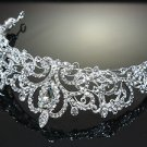 BRIDAL WEDDING VICOTIRAN RHINESTONE CRYSTAL TIARA FRONT HEAD CROWN
