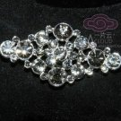 FAUX PEARL BRIDAL WEDDING HAIR ACCESSORY RHINESTONE CRYSTAL BROOCH PIN