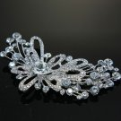 WEDDING BRIDAL RHINESTONE FLORAL HAIR HEADPIECE DECORATION CRYSTAL BROOCH PIN