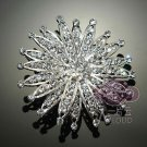 SUNFLOWER BRIDAL WEDDING BRIDES SILVER RHINESTONE CRYSTAL TIARA HAIR COMB