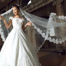 WEDDING BRIDAL BRIDES LONG WHITE OFF WHITE CATHEDRAL VEIL 1 Tier 5m