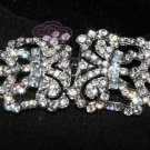 VINTAGE RHINESTONE CRYSTALS DRESS BUCKLE CLOSURE CLASP MATCHING BUTTON HOOK