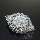 VINTAGE STYLE RHINESTONE CRYSTAL BRIDAL WEDDING JEWELRY OVAL CRAFT BUCKLE