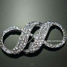 LOT OF 4 INFINITE WEDDING BRIDAL RHINESTONE DRESS SASH CRAFT BELT BROOCH PIN