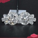 RHINESTONE CRYSTAL BELT HEART BUTTON HOOK CLOSURE MATCHING CLASP