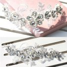 BRIDAL WEDDING LACE APPLIQUE FOREHEAD RHINESTONE CRYSTAL TIARA HAIR HEADBAND