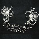 WEDDING BRIDAL RHINESTONE CRYSTAL FLOWER CROWN TIARA HEADBAND COMB
