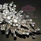 CLEAR /AURORA PURPLE RHINESTONE CRYSTAL WEDDING BRIDAL HAIR CRAFT BROOCH PIN