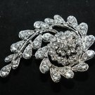 RHINESTONE CRYSTAL BRIDAL WEDDING CORSAGE BOUQUET BROOCH PIN