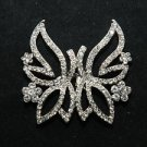 BUTTERFLY STYLE WEDDING SWEATER GUARD RHINESTONE CRYSTAL CLASP CLOSURE BUTTON