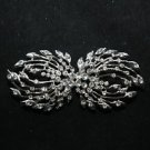 LEAF STYLE WEDDING SWEATER GUARD RHINESTONE CRYSTAL CLASP CLOSURE BUTTON