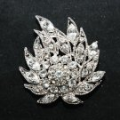 MINI RHINESTONE CRYSTAL BRIDAL WEDDING CORSAGE BOUQUET BROOCH PIN