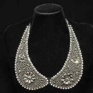 CHAIN METAL LACE RHINESTONE CRYSTAL CHOKER NECK COLLAR NECKLACE