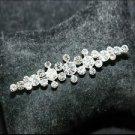 BRIDAL WEDDING RHINESTONE CRYSTAL STRAIGHT LINE GROOM BROOCH PIN PINS