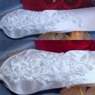 WHITE LACE WEDDING BRIDAL BRIDES SATIN PEARLS SEQUIN ELBOW GLOVES