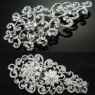 MIXED OF 2 WEDDING BRIDAL VICTORIAN STYLE RHINESTONE CRYSTAL TIARA HAIR COMB