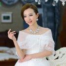 WEDDING ORGANZA BRIDAL BRIDE LACE EMBROIDERY SEQUIN WRAP SHAWL STOLE SCARF