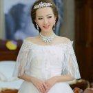 BRIDAL WEDDING CAPE LACE BOW WRAP SHRUG BOLERO SCARF