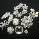 MIX BRIDAL BOUQUET CRYSTAL RHINESTONE BUCKLE BUTTON SPARKLING WEDDING BROOCH PIN