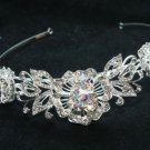 WEDDING BRIDAL AURORA RHINESTONE CRYSTAL BLING HEADBAND CROWN TIARA