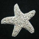 CHRISMAS BEACH SEA STAR STARFISH CRYSTAL RHINESTONE WEDDING HAIR SHOES APPLIQUE