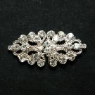 RHOMBUS RHINESTONE CRYSTALS DRESS BUCKLE CLOSURE CLASP MATCHING BUTTON HOOK