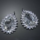 LOT OF 2 BRIDAL WEDDING CRAFT RHINESTONE CRYSTAL TEARDROP PEAR DANGLE PENDANTS