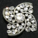 SQUARE RHOMBUS BRIDAL RHINESTONE DRESS SILVER WEDDING GIFT CRAFT BROOCH PIN