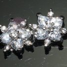 LOT OF 4 MINI STAR CLEAR RHINESTONE CRYSTAL SILVER TONE FLAT BACK LOOSE BEADS