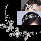 BRIDAL WEDDING BRIDES BUTTERFLY RHINESTONE CRYSTAL HAIR APPLIQUE TIARA