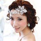 BRIDAL WEDDING BRIDES GIRL FAUX PEARL CRYSTAL BEADS TIARA HAIR COMB