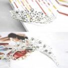 WEDDING BRIDAL RHINESTONE CRYSTAL FLOWER VICTORIAN CROWN TIARA