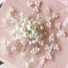 WEDDING BRIDAL RHINESTONE CRYSTAL FAUX PEARL CLUSTER BEADS HAIR COMB