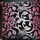 2 PCS FLORAL PURPLE/GOLD/RED FLORAL FLOWER VICTORIAN CUSHION PILLOW CASE COVER