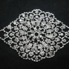 BRIDAL WEDDING RHINESTONE CRYSTAL FLAT SEWING HOOK METAL APPLIQUE