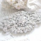 WEDDING BRIDAL CLEAR RHINESTONE RHOMBUS VINTAGE STYLE HAIR COMB