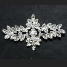 RHINESTONES CRYSTAL BRIDAL WEDDING GOWN SASH RHOMBUS BROOCH PIN